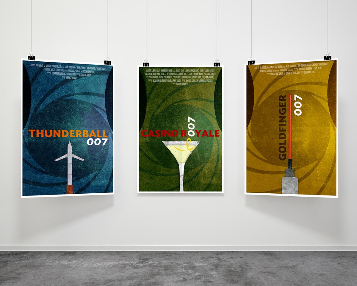 James Bond Film Poster Series On Behance