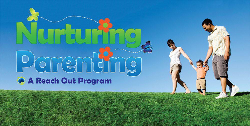 Reach Out west end nurturing parenting logo flyer banner postcard