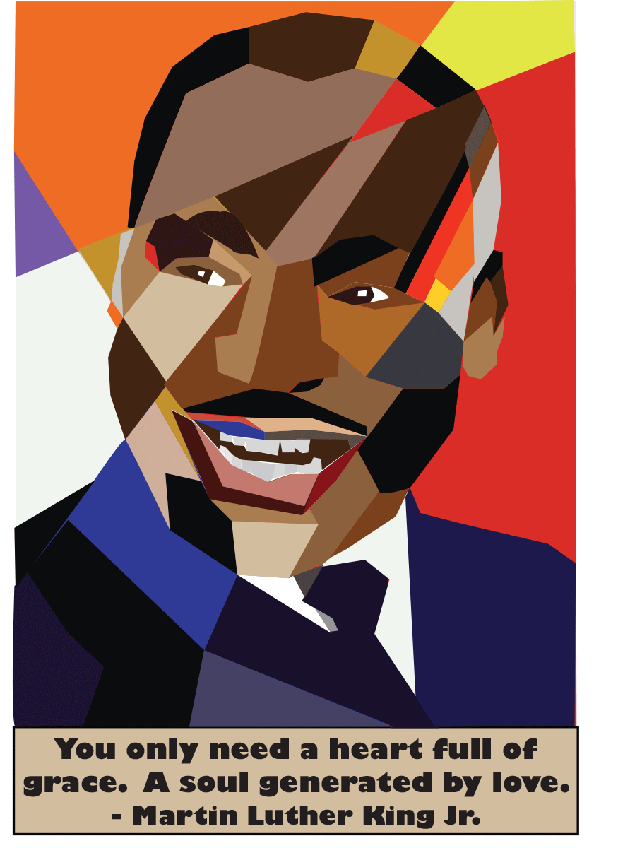 People Martin Luther King Jr Abstract Illustration On Behance