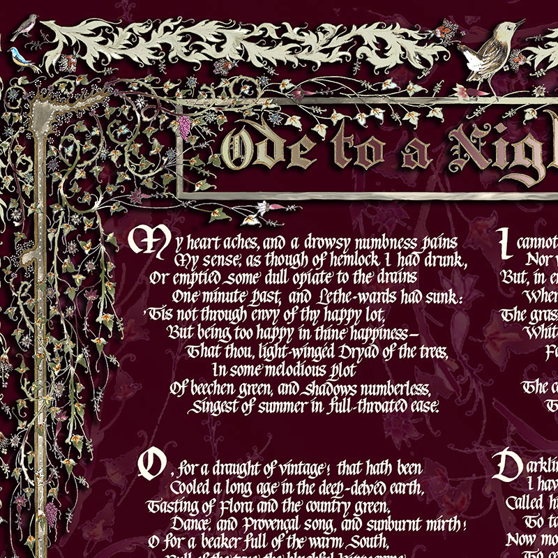 Ode to a Nightingale by John Keats 1795-1821 on Behance