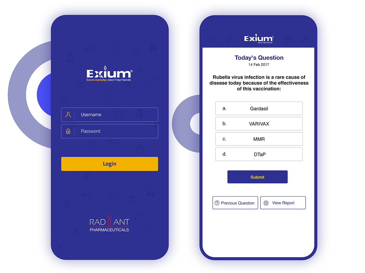 Medical Quiz Apps UI/UX Design on Student Show