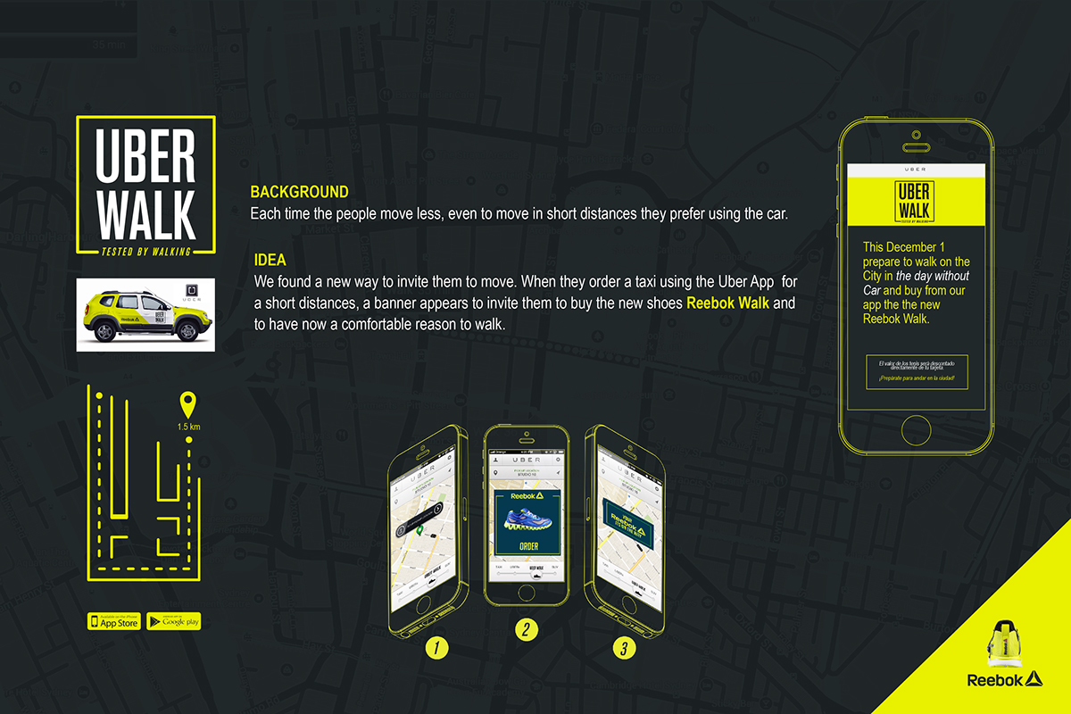 Uber Walk   Reebok on Behance