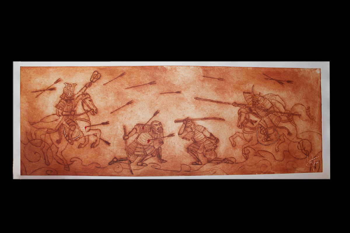 grabado dibujo Bellas artes