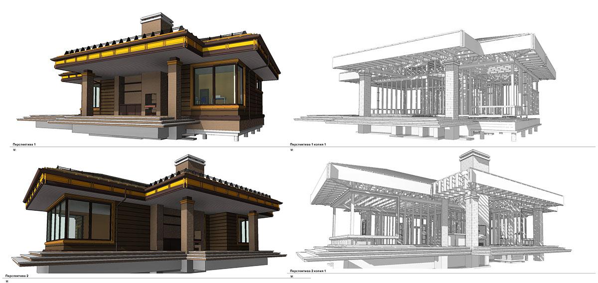 bathhouse, wooden frame building construction on Behance