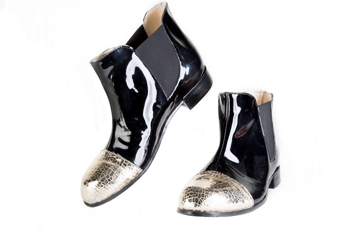 BESPOKE FOOTWEAR accessories footwear handmade patent leather Chelsea Boot boots