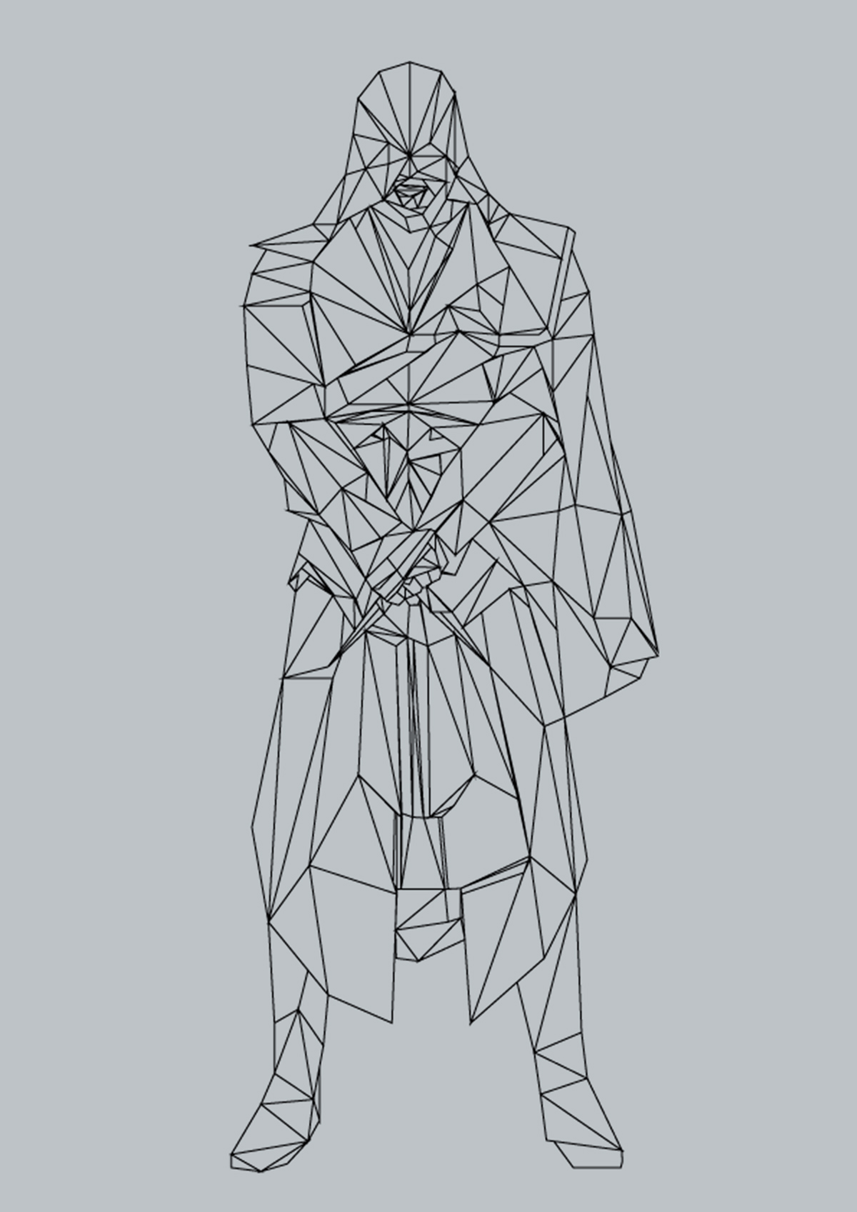 Low Poly Assassins creed flat ezio poly art Low Poly Art poly