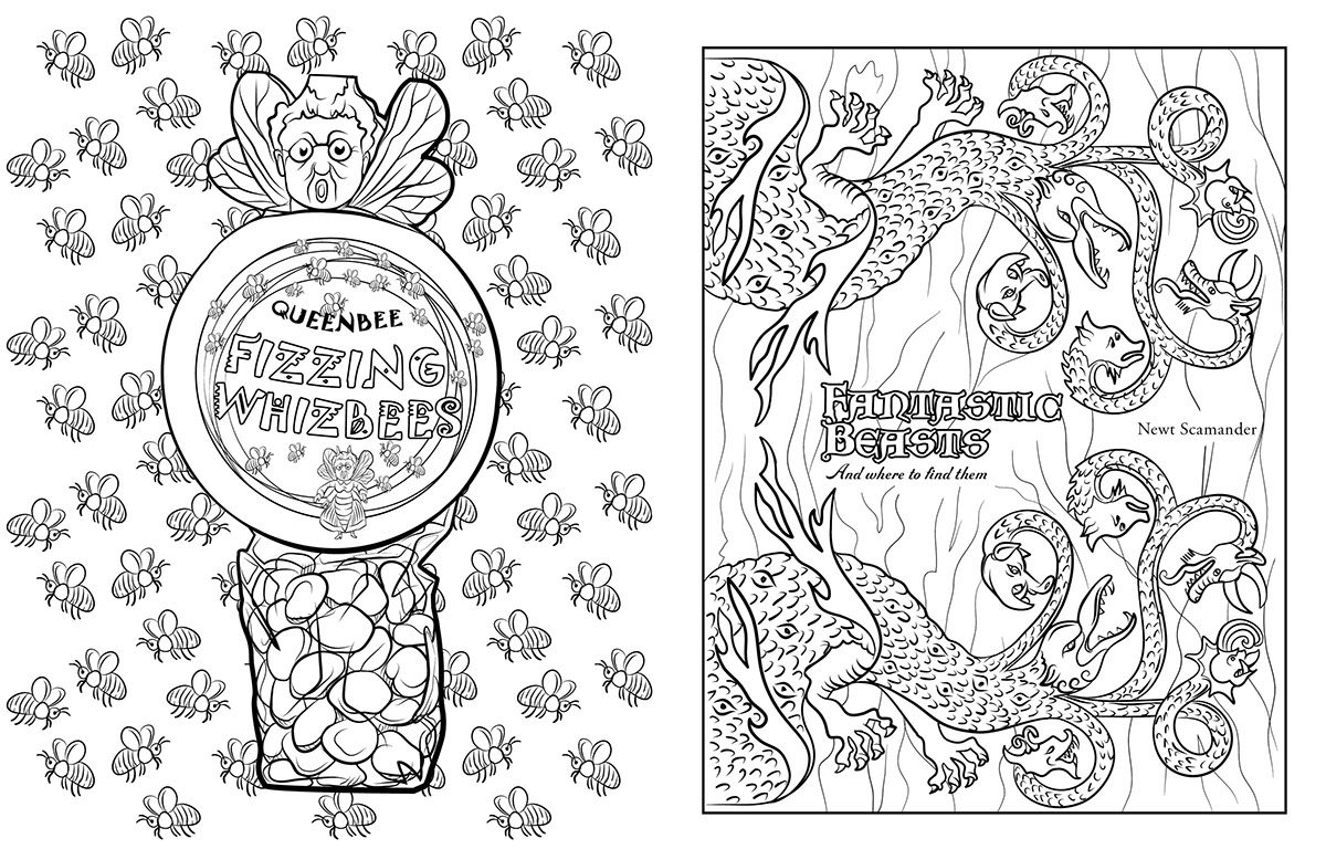Harry Potter Magical Artifacts Coloring Book Design On Behance