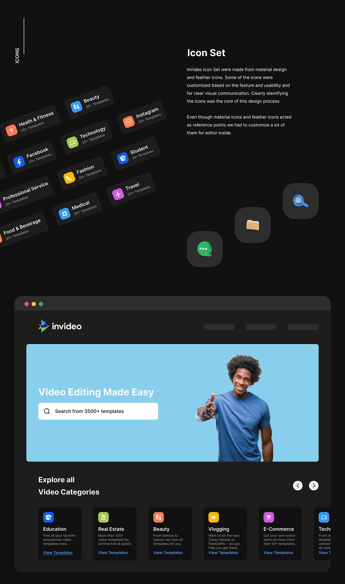 InVideo Icon Set