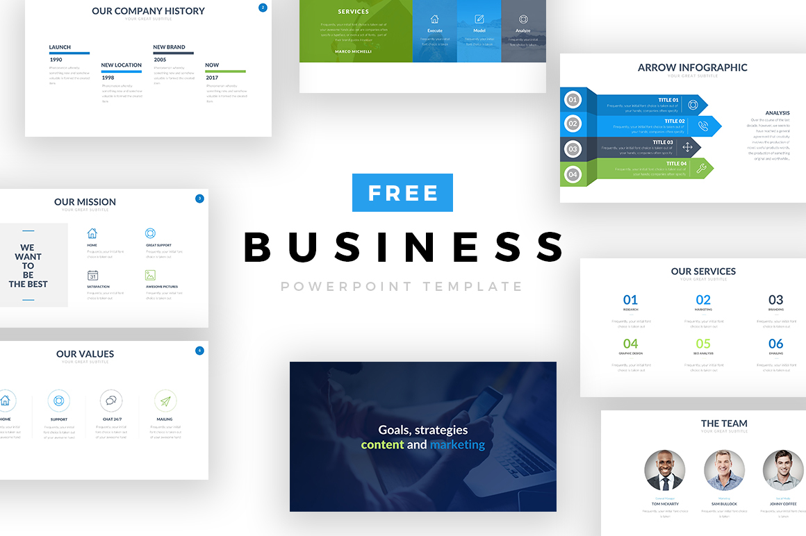 Free business powerpoint template on behance wajeb Gallery