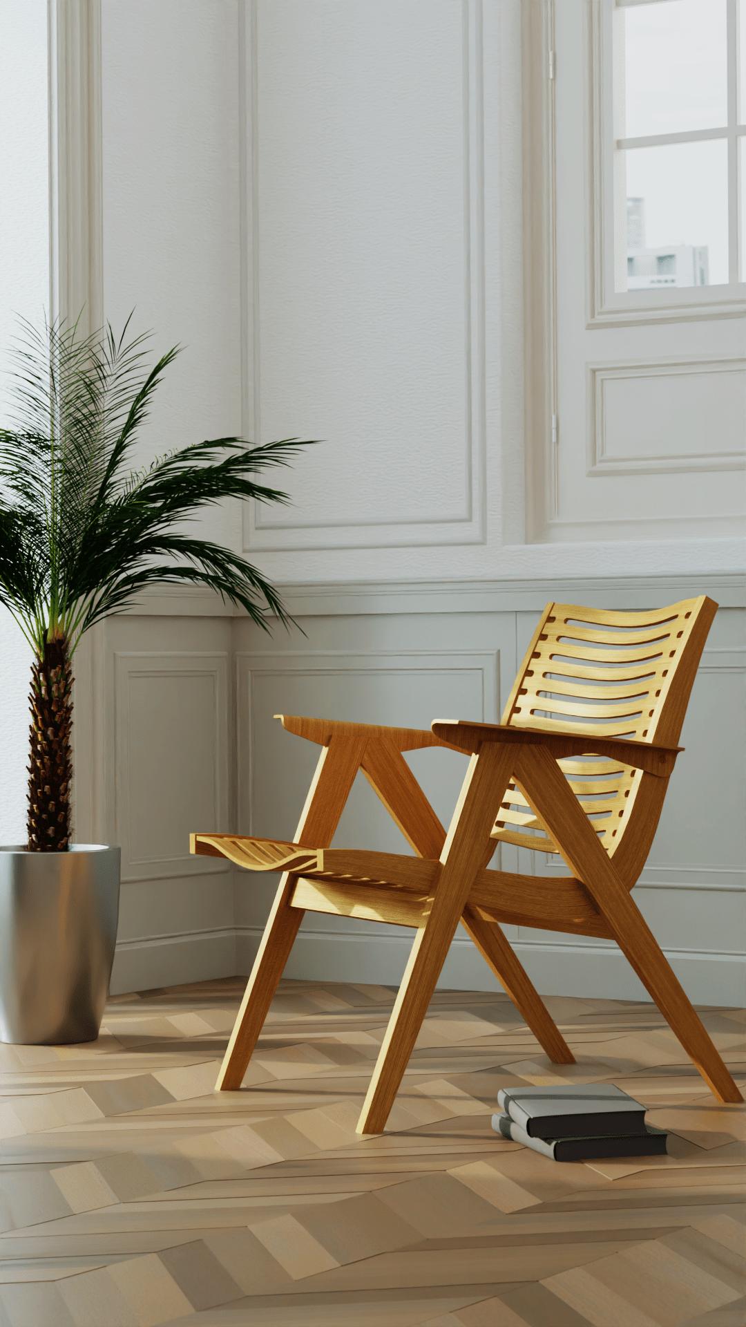 3D art CGI chiar Collection design furniture Interior lighting