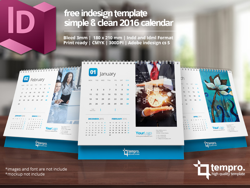 Free 2016 Calendar Template On Behance