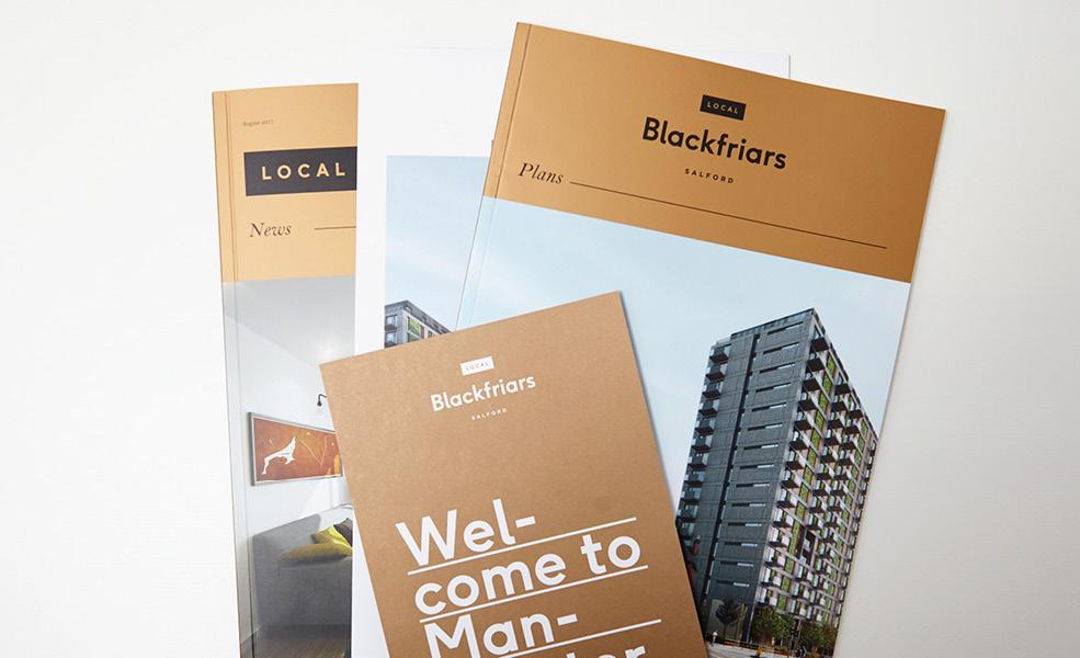 residential branding  Website Hoarding pub pantone manchester beer magazine brochure