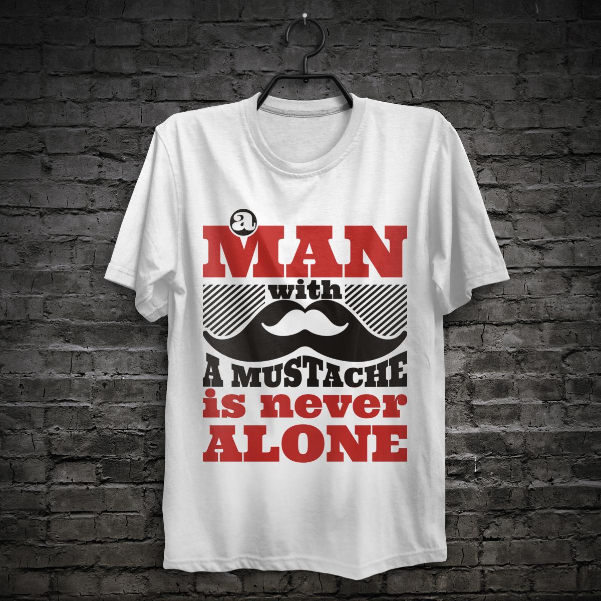 beard mustache man print tshirt stache