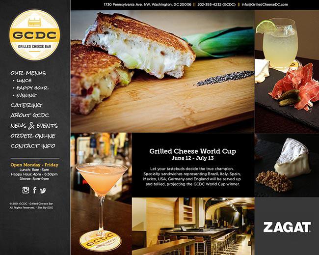 GCDC Grilled Cheese Bar Restaurant Branding, Website Design, Washington, DC