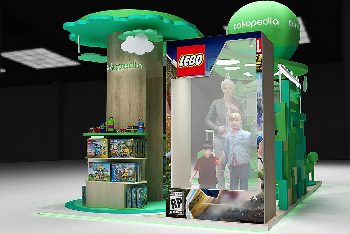 Tokopedia x Brick Live Lego Jakarta - Concept Design on ...