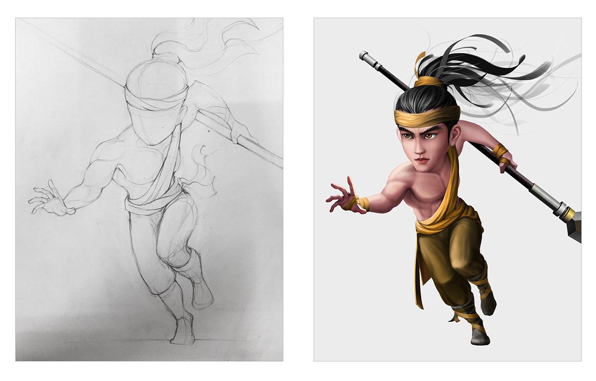 2d artist art Character design  concept concept art designer VN Digital Art  hoạt hình mầm mam