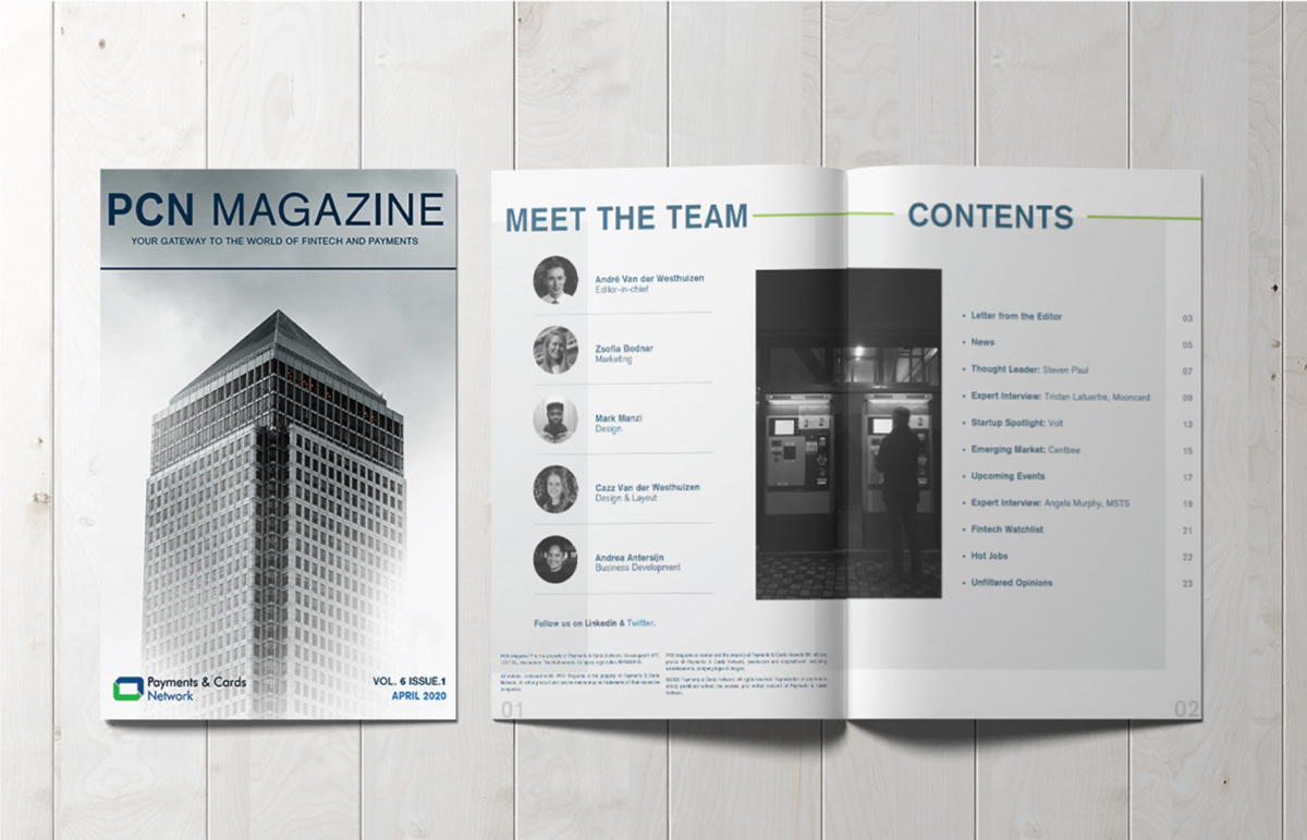 Payments and Cards Magazine Network Magazine, Amsterdam.
