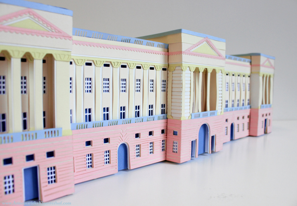 Buckingham Palace Paper-craft Model on Behance