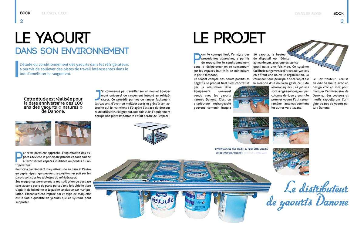Distributeur de yaourt on behance for Porte yaourt