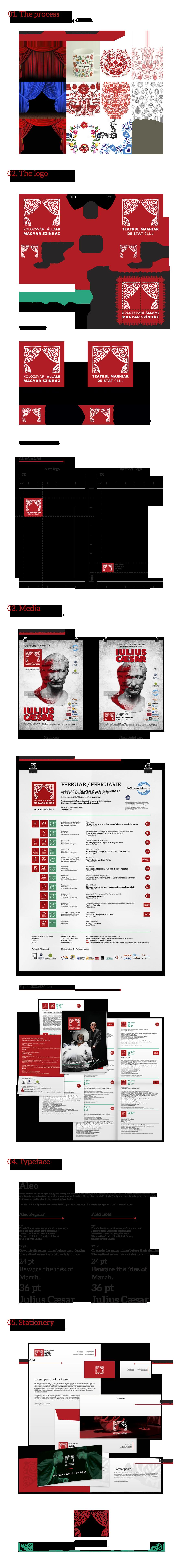 kolozsvári állami magyar színház hungarian state theater rebranding rolli chereches Logo Design Flyer Design