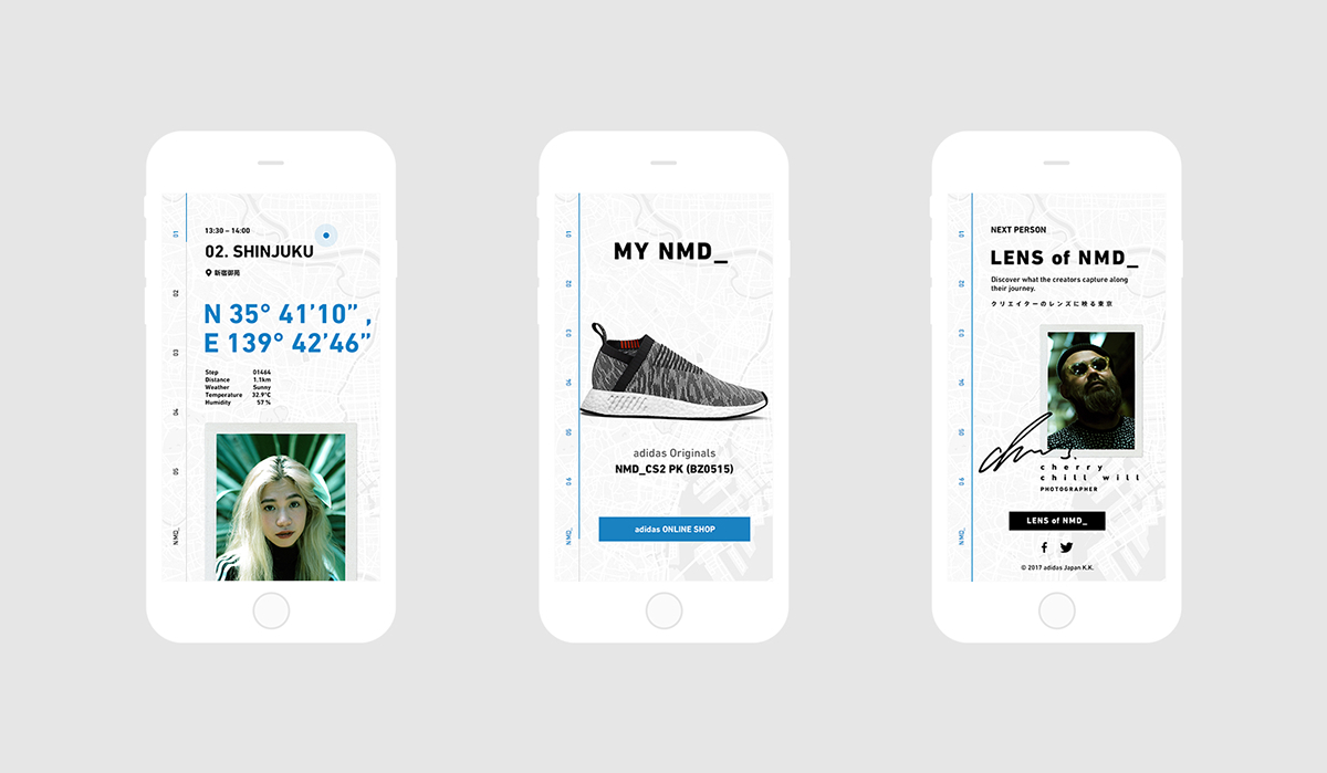 Web UI ux adidas shoes footwear minimal Fashion  sneakers Responsive