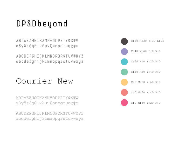 35 years after / forward typography & colors