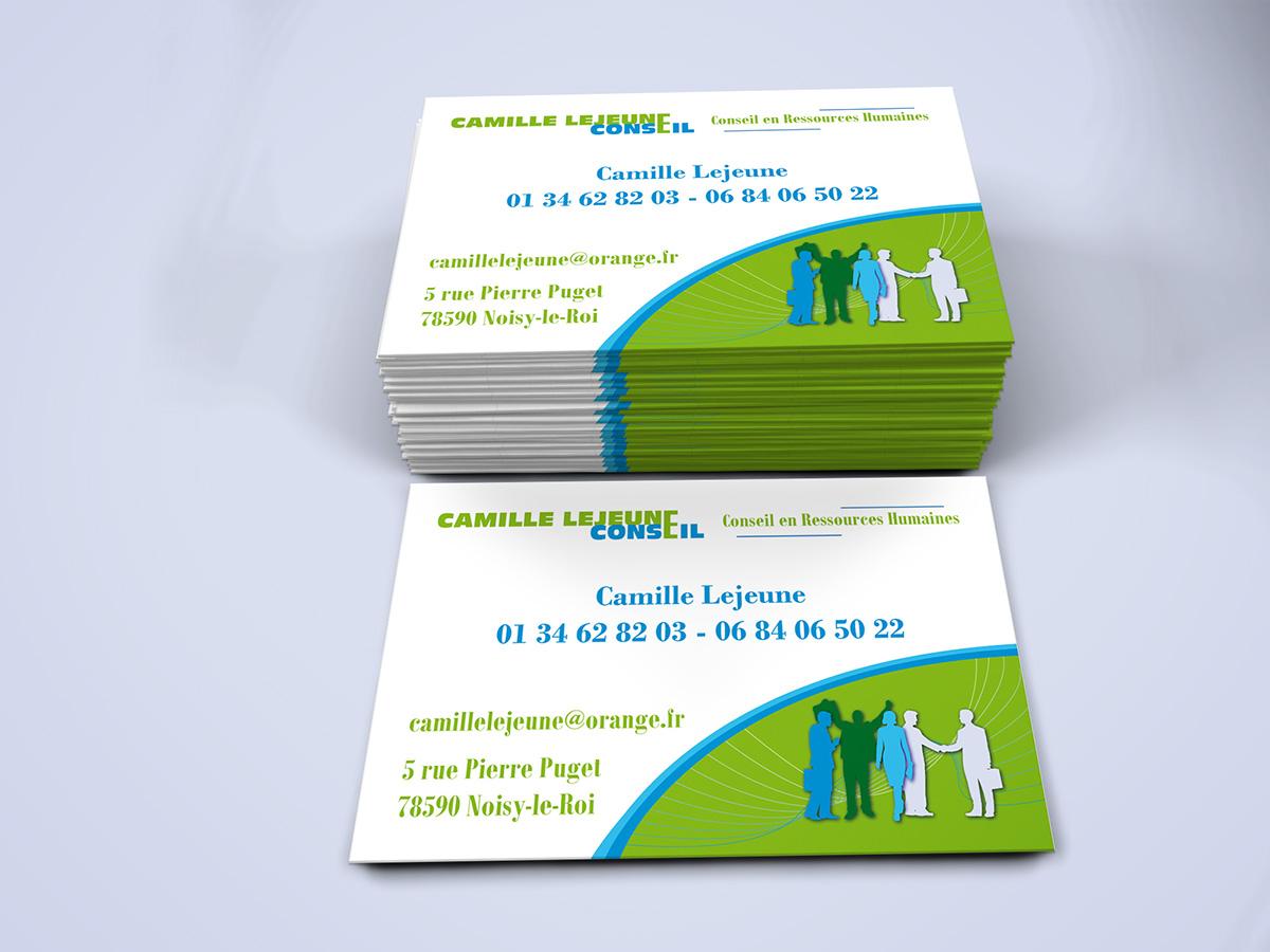 Cartes De Visite Pour Un Coabinet Conseil En Ressources Humaines RH