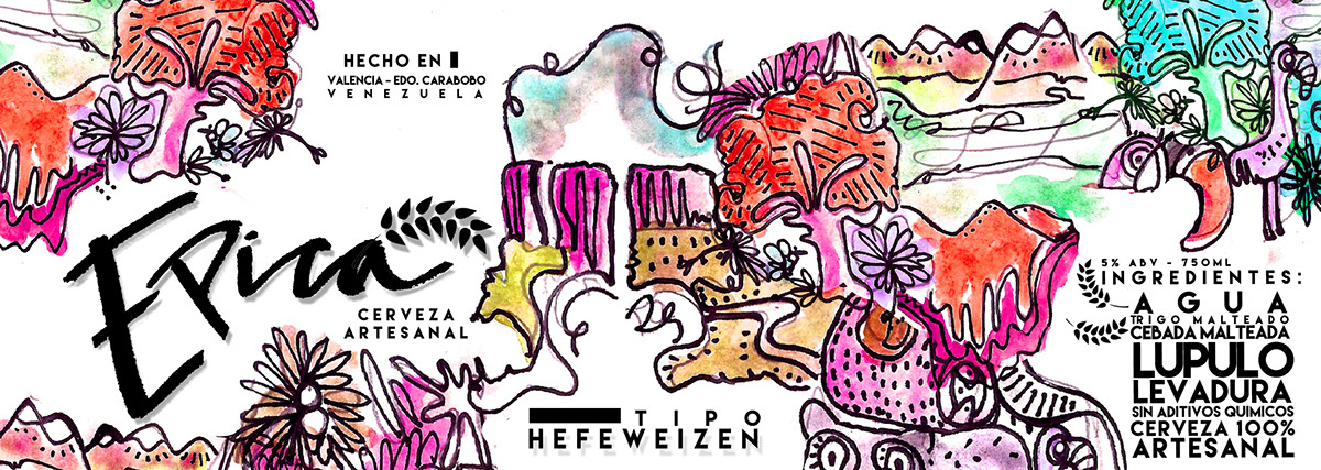 cerveza artesanal beer lettering