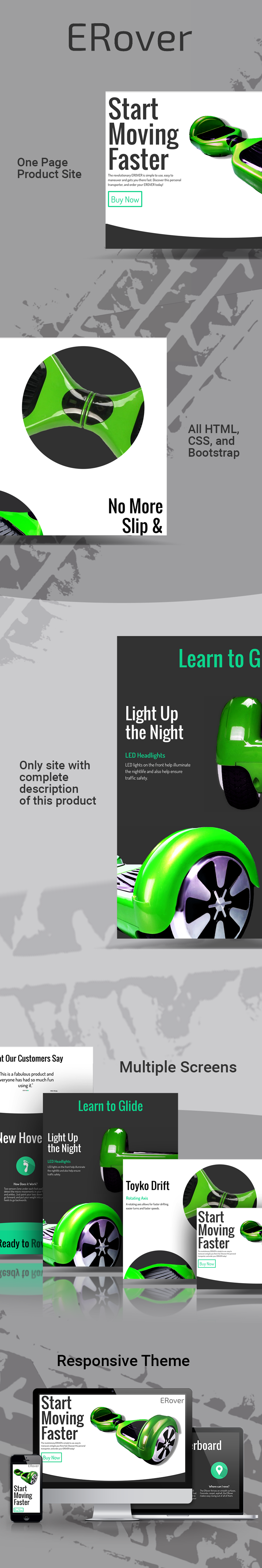 one-page site Website Product Site