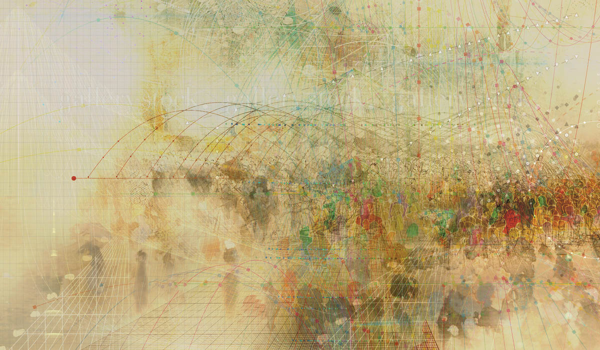 abstract complexity connection crowd digital network people social society sociology