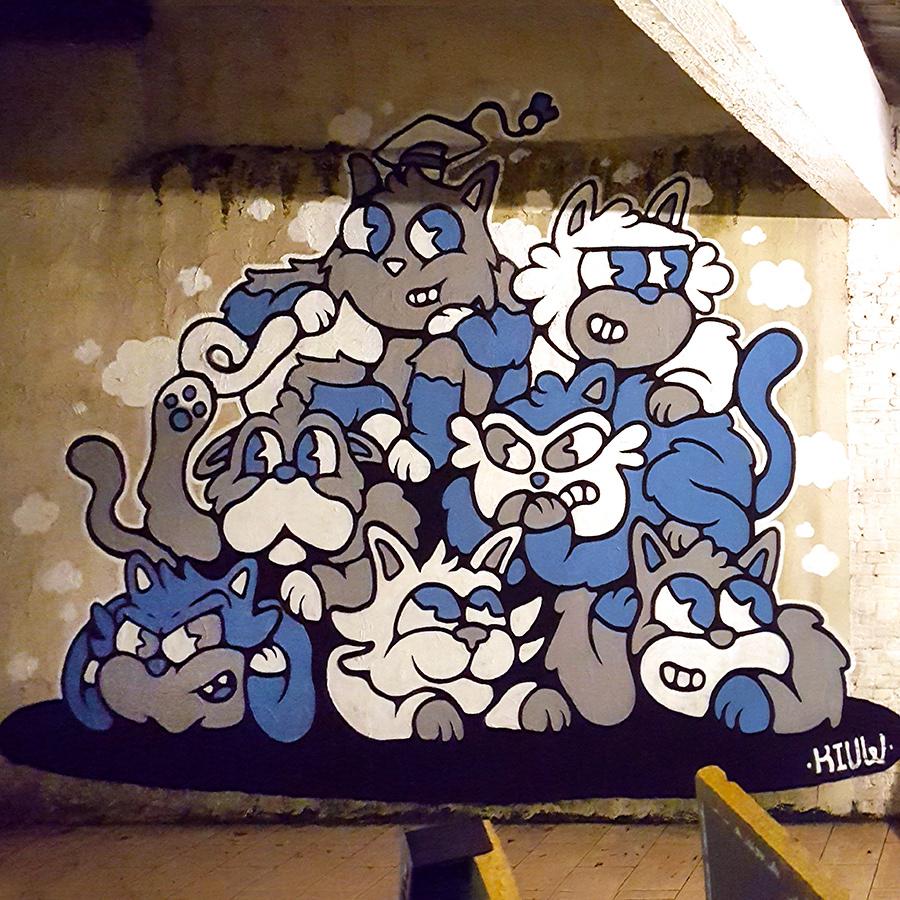 Image may contain: cartoon, drawing and wall