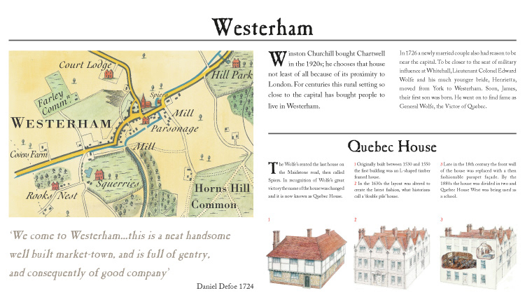 Exhibition panel design visitor experience engraving style map design Historical Illustration military illustration interpretation panel National Trust
