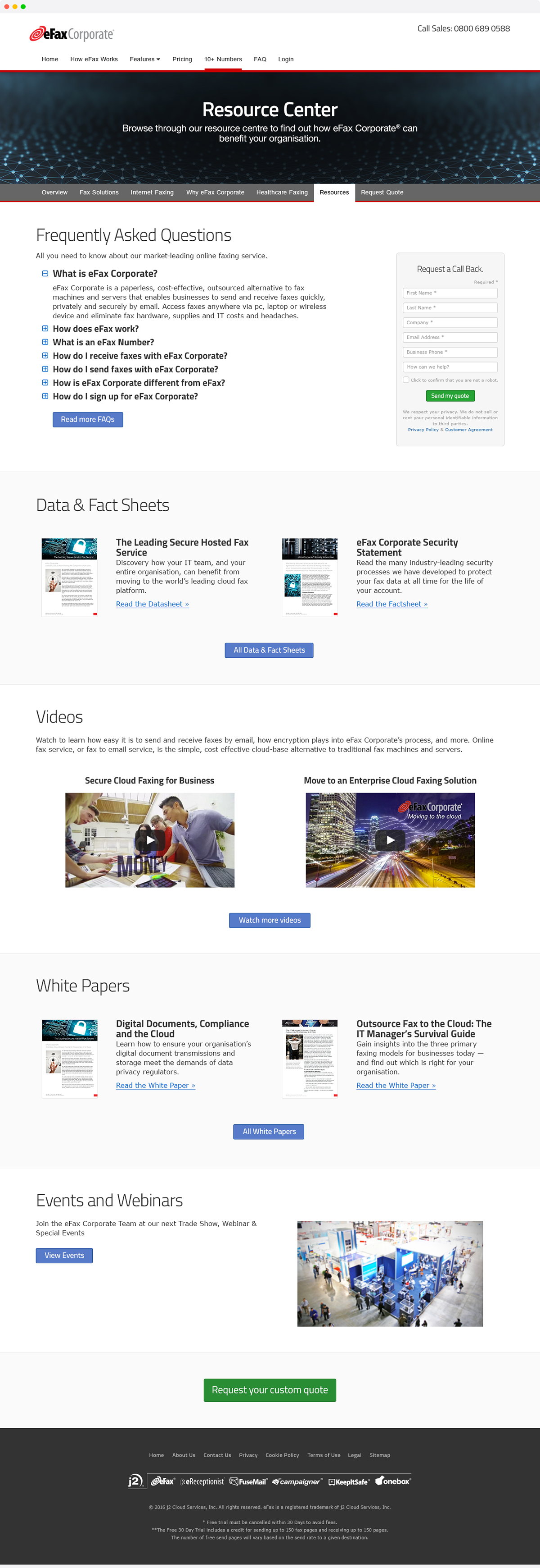 eFax UK Website Redesign on Behance