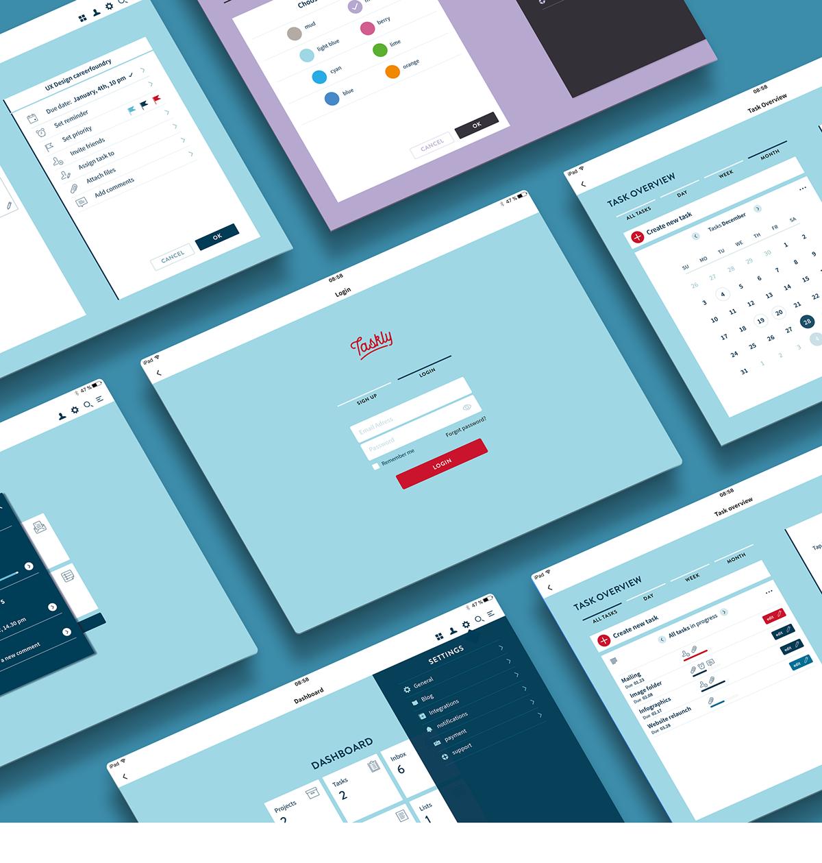 UX design task management ui design ux UI app design