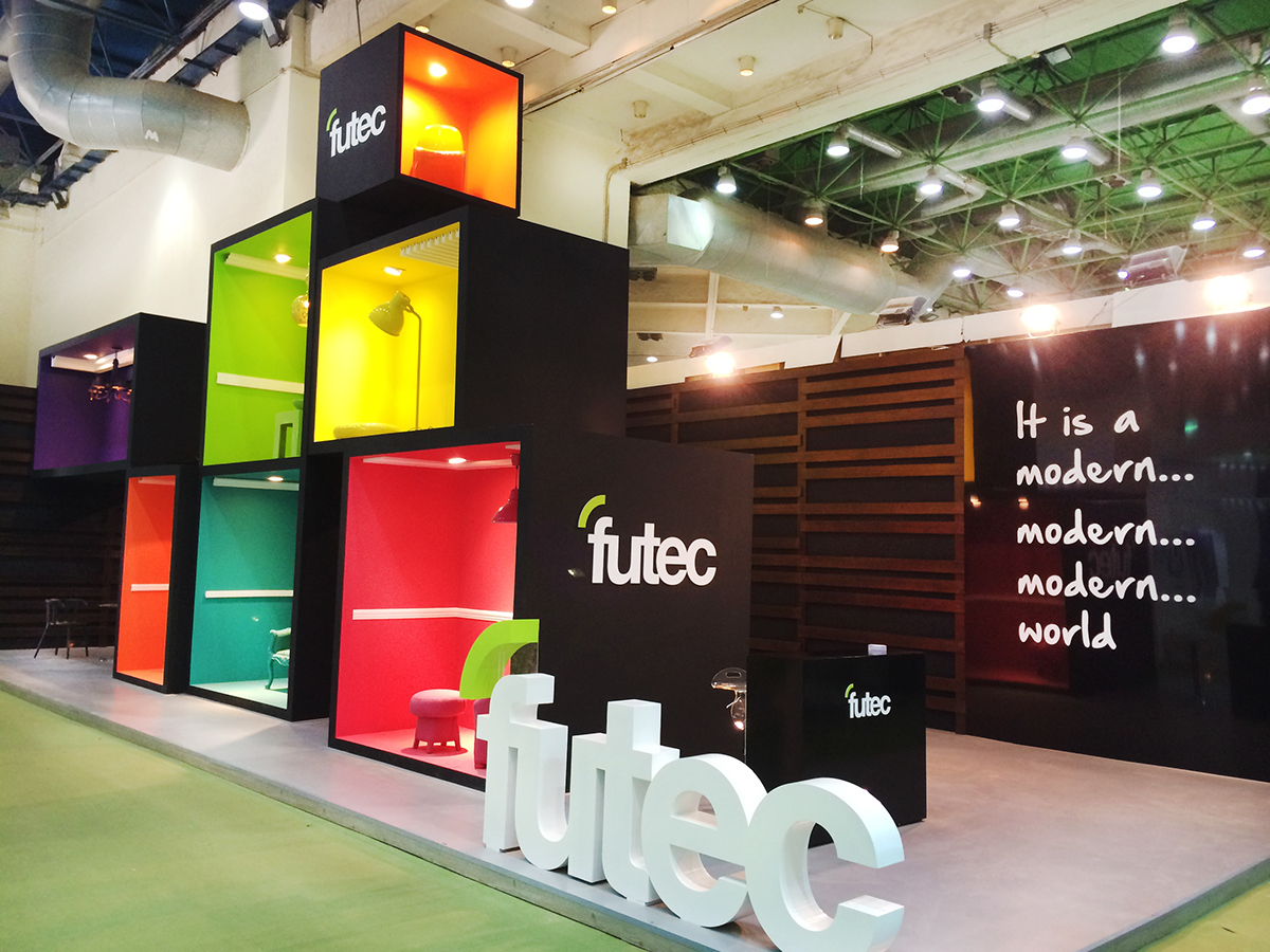 futec booth building show egypt 2015 mental flame on behance. Black Bedroom Furniture Sets. Home Design Ideas