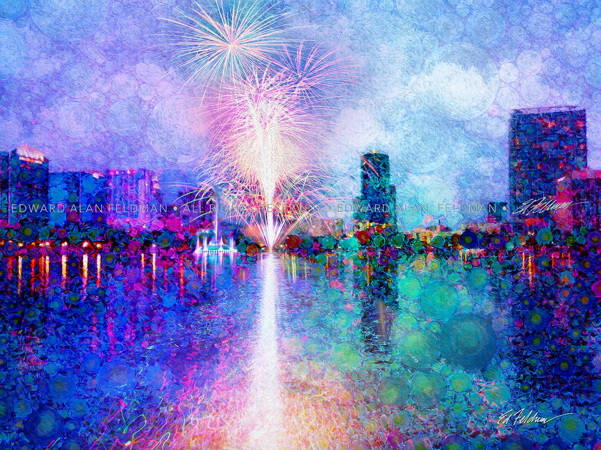 fireworks,Lake Eola,downtown orlando,fourth of,july