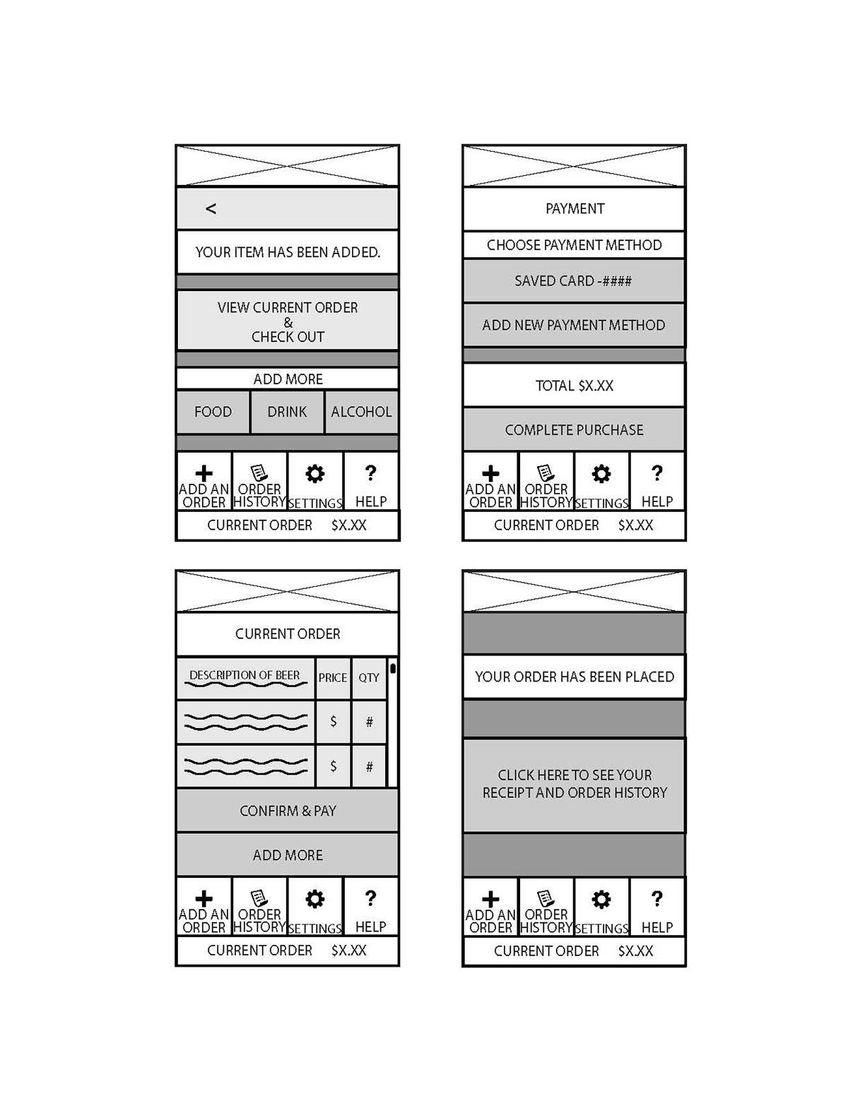 interface design Mobile Application
