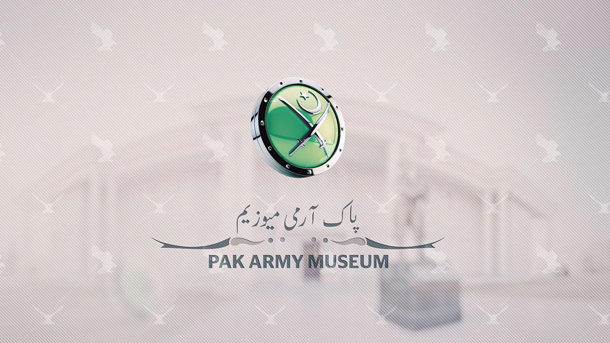 Maps illustration 3d logo Pak Army Museum GHQ Rawalpindi Pak Army History design ILLUSTRATION  graphics Photography  digital painting