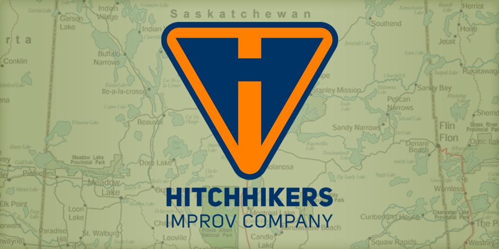 logo Logo Design brand identity regina improv Improv Company Theatre