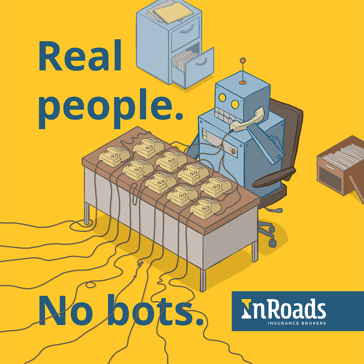 cartoon ILLUSTRATION  robots social media campaign ipad pro Procreate vector art