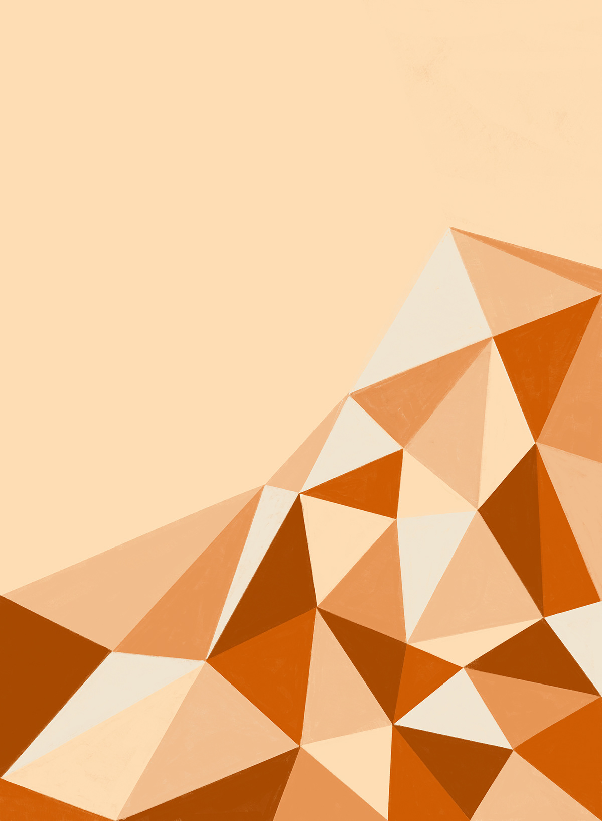 Abstract geometric study in salted caramel color palette.