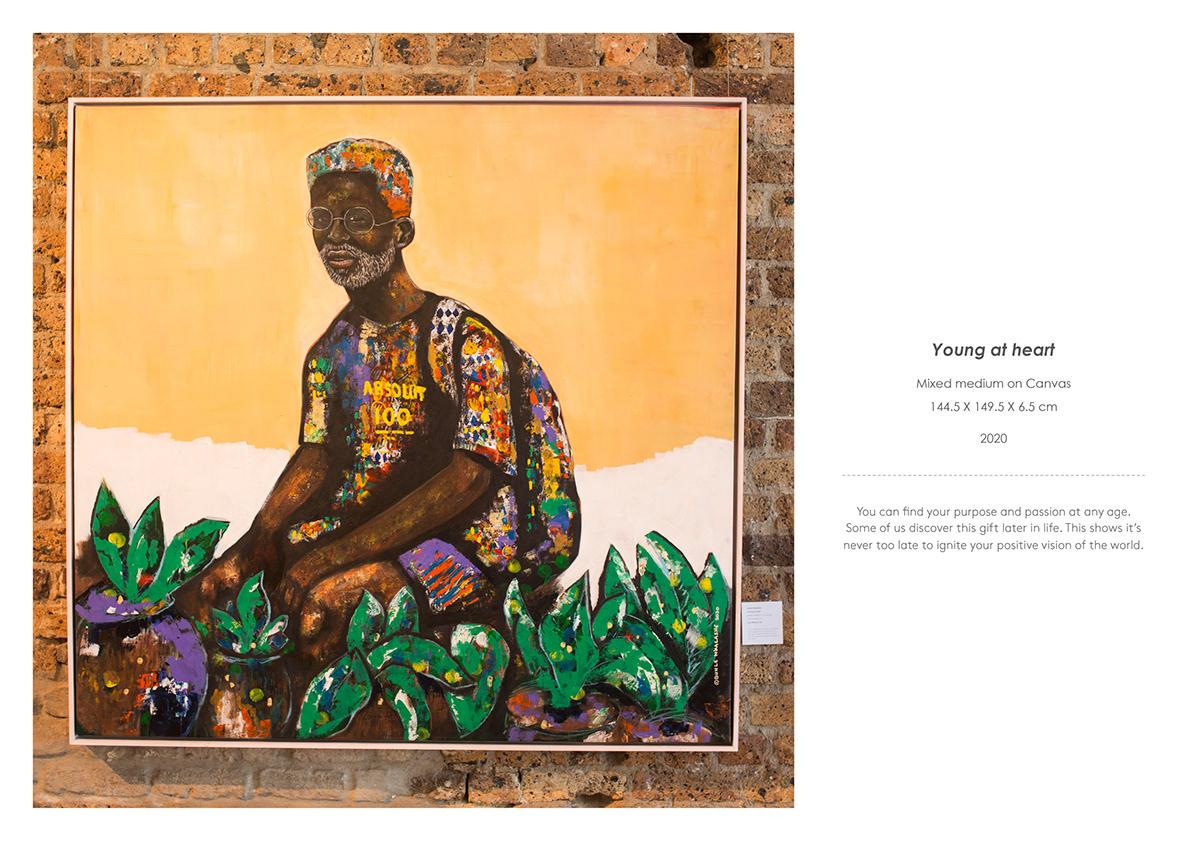 African Art Authentic black contemporary art figurative masculine art Patterns Portraiture vibrant