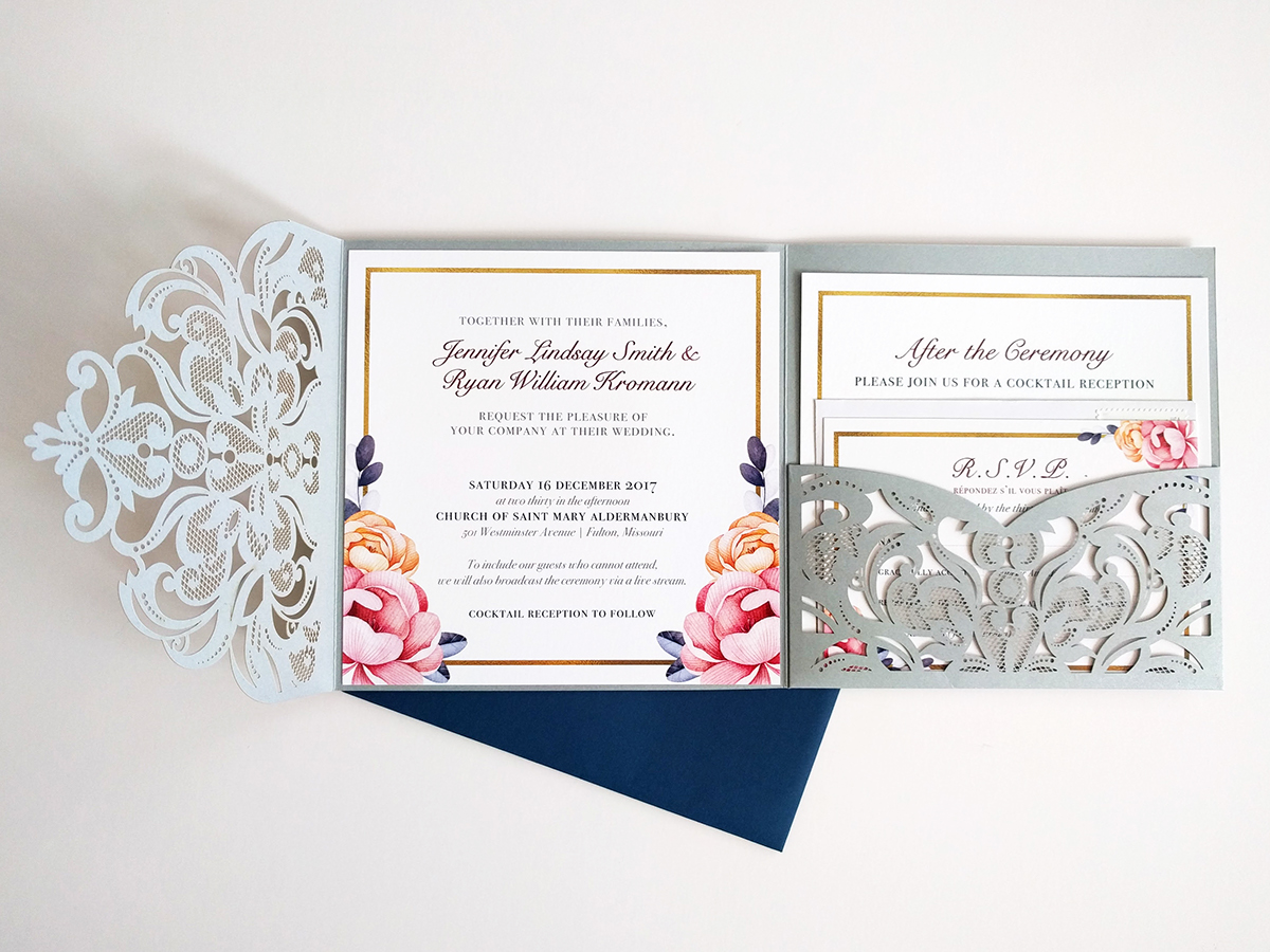Winter Wedding Invitation on Behance