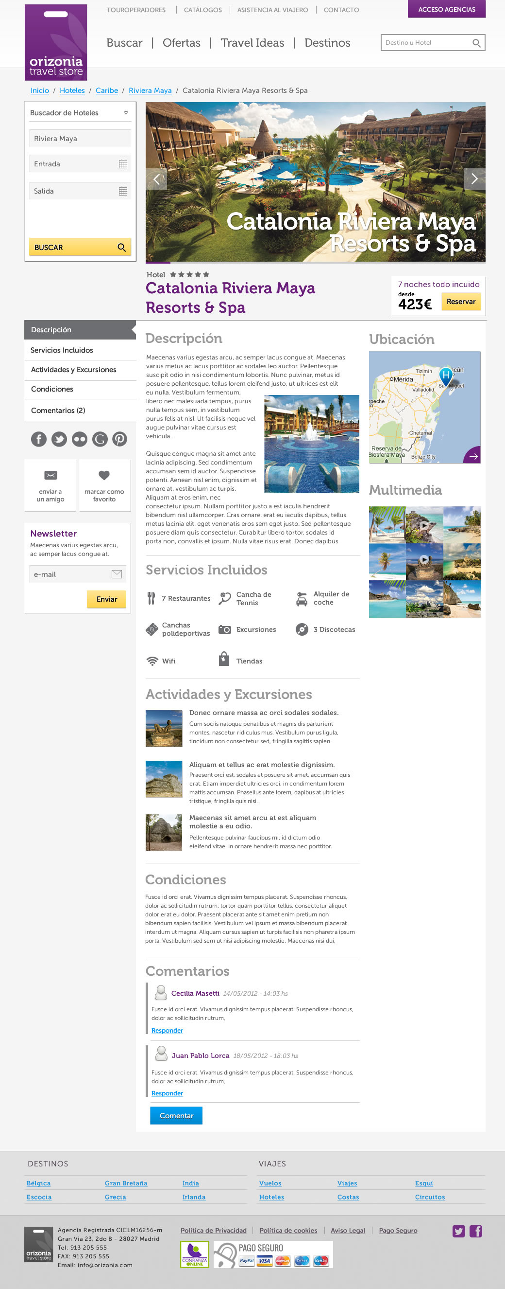 Travel Ecommerce