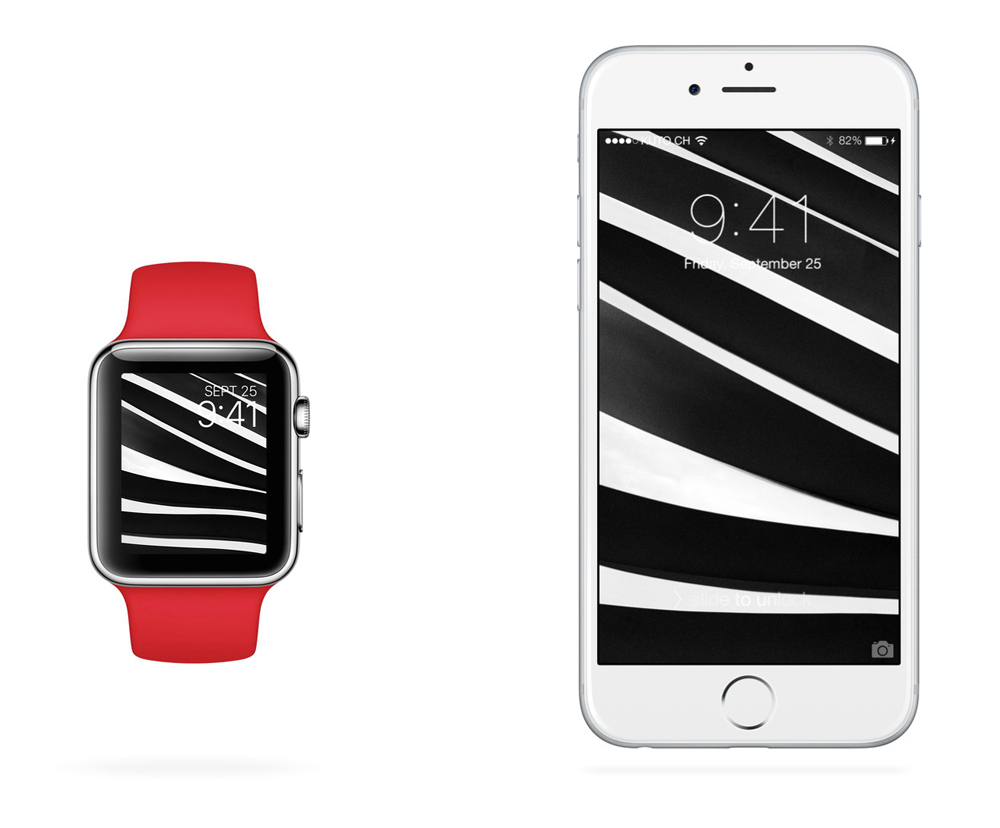 Iphone And Apple Watch Wallpapers On Behance