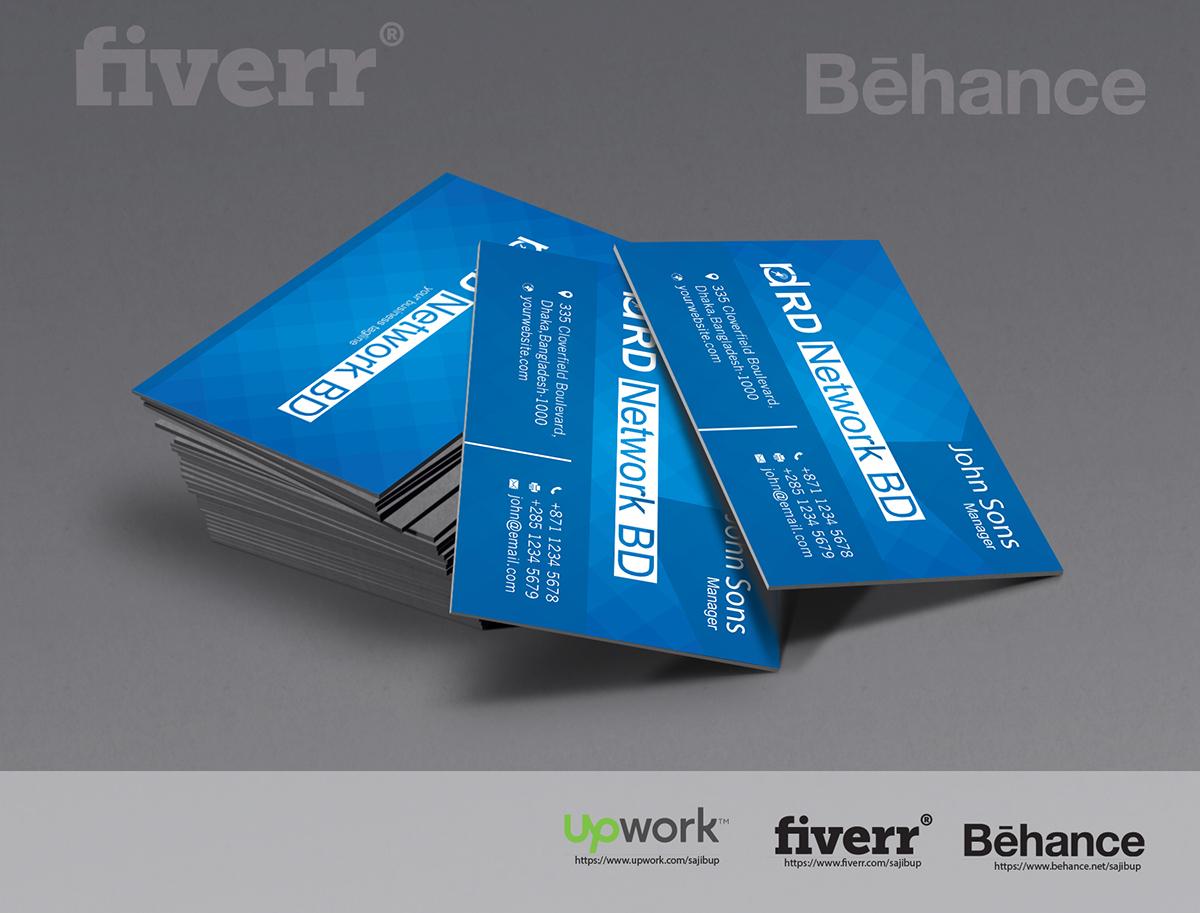 Creative Business Card Design for Fiverr on Behance