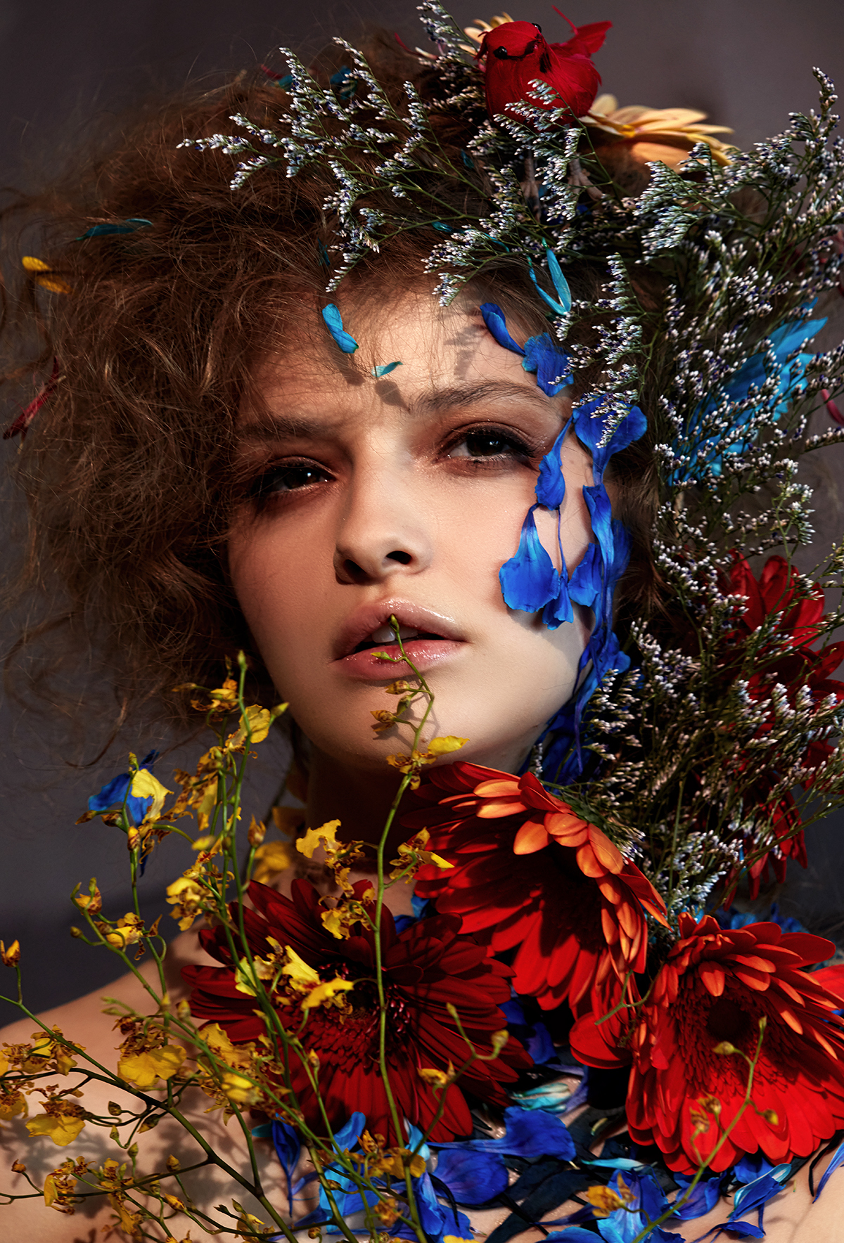 makeup hair art shawnna downing billie chiasson beauty editorial florals spring summer