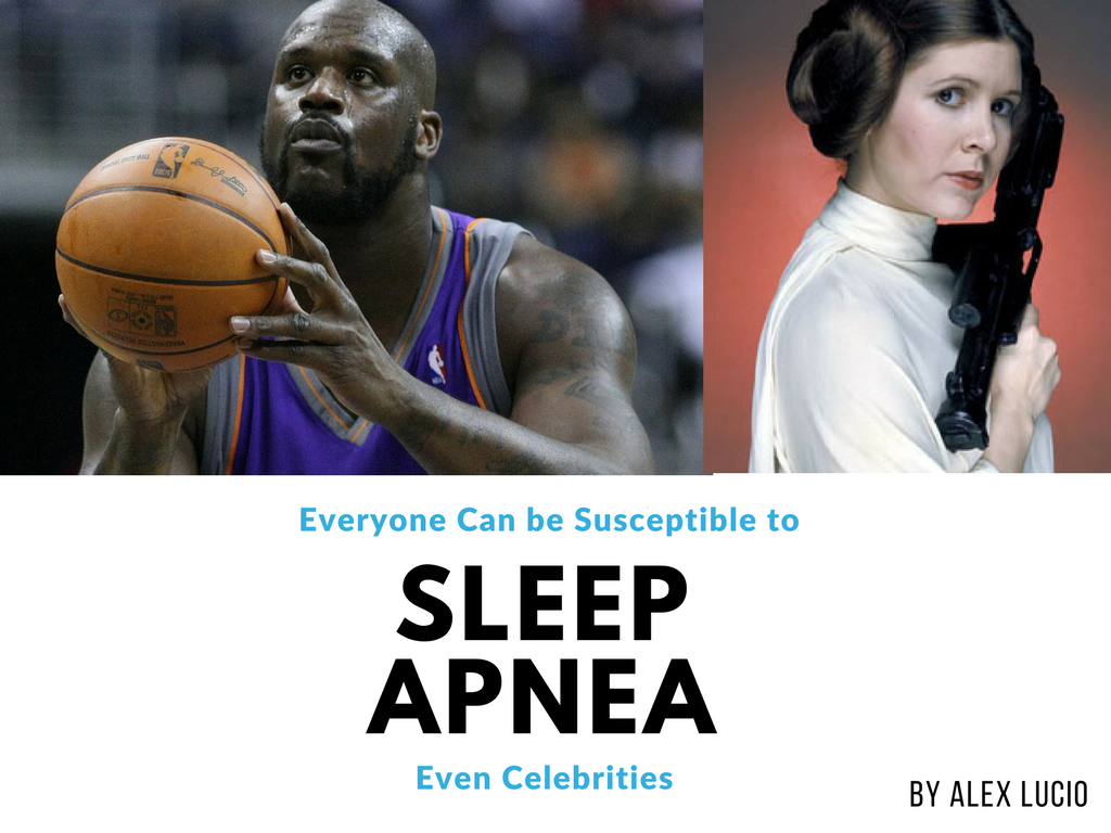 Alex Lucio sleep apnea sleep disorders snoring Carrie Fisher star wars celebrities Entertainment shaquille o'neal basketball