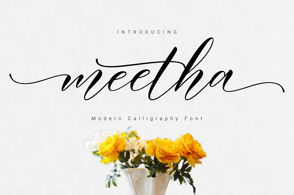 This Is A Beautiful Script Font With Italic Style Made Gently And Danced To Give The Character Of Modern Writing That Sweet Simple