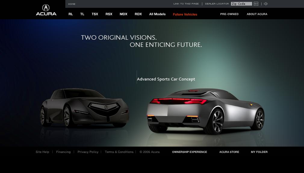 Web automotive   digital branding  Product Branding interactive microsite